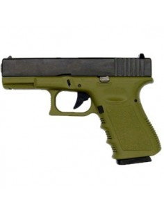 KJ WORKS G23 GAS BLOWBACK (ABS SLIDE) OD GREEN