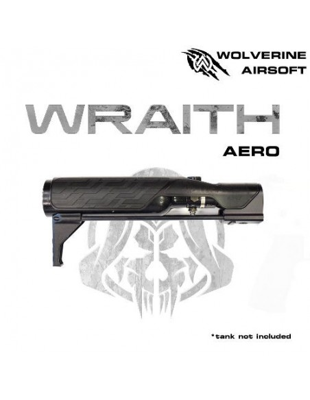 MTW WRAITH AERO Stock for MTW, includes STORM inBuffer Regulator Wolverine airsoft