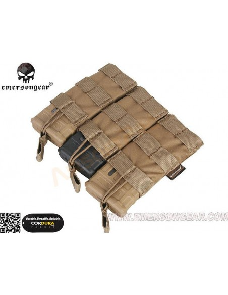 MODULAR OPEN TOP TRIPLE MAG POUCH - COYOTE BROWN (CB) EMERSON