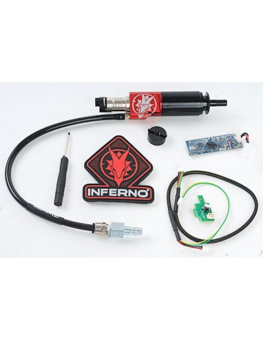 SISTEMA HPA WOLVERINE AIRSOFT GEN 2 INFERNO M249 CYLINDER WITH PREMIUM EDITION ELECTRONICS AND BLUETOOTH FCU