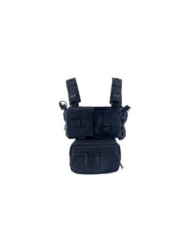CHALECO CHEST RIG CONQUER MINI CHEST RIG NEGRO