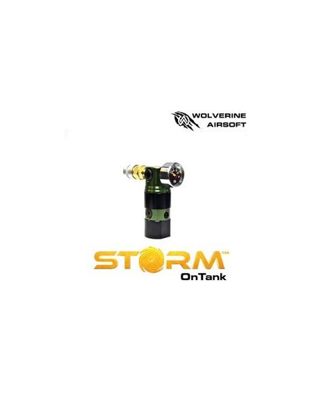 REGULADOR HPA WOLVERINE AIRSOFT STORM ON TANK COLOR GREEN