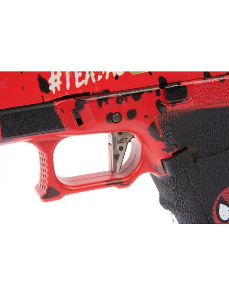 REPLICA PISTOLA GBB GLOCK 17 DEADPOOL ASCEND BY WE AIRSOFT FORCE TRIGGER